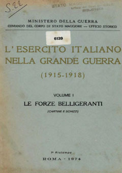 esercito italiano nella grande guerra vol1 cartine cover